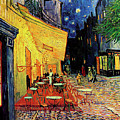 Van Gogh Cafe Terrace Place du Forum at Night Poster by Vincent Van Gogh