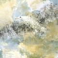 Vanishing Seagull Print by Melanie Viola