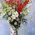Vase of Flowers Print by Claude Monet