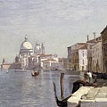 Venice - View of Campo della Carita looking towards the Dome of the Salute Poster by Jean Baptiste Camille Corot