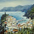 Vernazza Cinque Terre Italy Print by Marilyn Dunlap