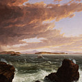 View across Frenchman's Bay from Mt. Desert Island after a squall Print by Thomas Cole