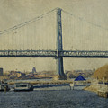 View From The Battleship Print by Trish Tritz