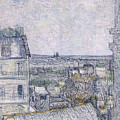 View from Vincent's room in the Rue Lepic Poster by Vincent van Gogh