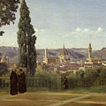 View of Florence from the Boboli Gardens Print by Jean Baptiste Camille Corot