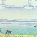 View of Lake Leman from Chexbres Print by Ferdinand Hodler