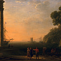 View of Seaport Print by Claude Lorrain