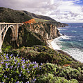 View of The Bixby Creek Bridge Big Sur California Poster by George Oze