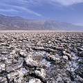 View of the Devil's Golf Course Death Valley California Print by George Oze