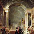 View of the Grande Galerie of the Louvre Print by Patrick Allan Fraser