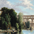 View of the Pont du Gard Poster by Henri Marie Poinsot