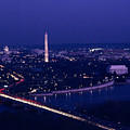 View Of Washington D.c. At Night Poster by Kenneth Garrett