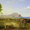 View over Palermo Print by Carl Rottmann