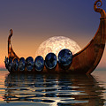 Viking Boat Print by Corey Ford