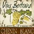 Vineyard red wine sign Print by Grace Pullen