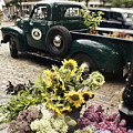 Vintage Flower Truck-Nantucket Print by Tammy Wetzel
