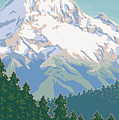 Vintage Mount Hood Travel Poster Poster by Mitch Frey