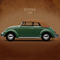 VW Beetle 1953 Poster by Mark Rogan