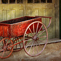 Wagon - That old red wagon  Poster by Mike Savad