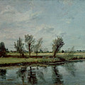 Water Meadows near Salisbury Poster by John Constable