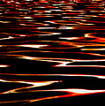 Waves on Fire Abstract Print by David Patterson