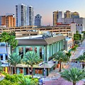 West Palm at Twilight Print by Debra and Dave Vanderlaan