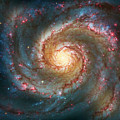 Whirlpool Galaxy  Print by The  Vault - Jennifer Rondinelli Reilly