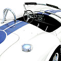 White AC Cobra Print by David Kyte
