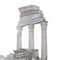 WHITE COLUMNS temple of Castor and Pollux in the Forum Rome Italy Print by Andy Smy