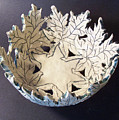 White Maple Leaf Bowl by Carolyn Coffey Wallace