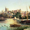 Windsor from the Thames   Print by Robert W Marshall