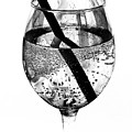 Wine Glass Fizz Print by Marion McCristall