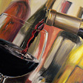 Wine Pour II Poster by Donna Tuten