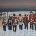 Winter Classic 2012 Print by Ron  Genest