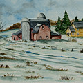 Winter Down On The Farm Print by Charlotte Blanchard