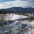 Winter in North Conway Print by Eric Gendron
