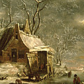 Winter Scene Print by Jan Beerstraten