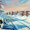 Winter Snow Tracks Poster by Otto Werner