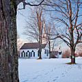 Winter Sunset in New Salem Print by Susan Cole Kelly