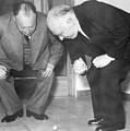 Wolfgang Pauli and Niels Bohr Print by Margrethe Bohr Collection and AIP and Photo Researchers