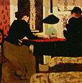 Women by Lamplight Poster by vVuillard