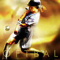 Women in Sports - Softball Poster by Mike Massengale