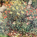 Women in the Flowers Print by Claude Monet