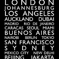 World Cities Bus Roll Poster by Michael Tompsett