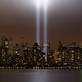 World Trade Center Tribute In Light Poster by Greg Adams Photography