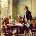 Writing Declaration of Independence Print by PG REPRODUCTIONS