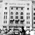 Yankee Stadium, Fans Arrive To Watch Poster by Everett