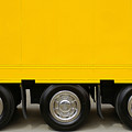 Yellow Truck Poster by Carlos Caetano