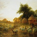 Yon Yellow Sunset Dying in the West Poster by Joseph Farquharson