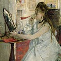 Young Woman Powdering her Face Poster by Berthe Morisot